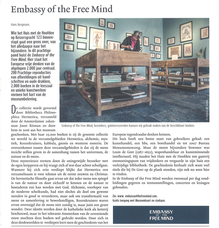 Bijzondere Side Table.Embassy Of The Free Mind Huis Met De Hoofden